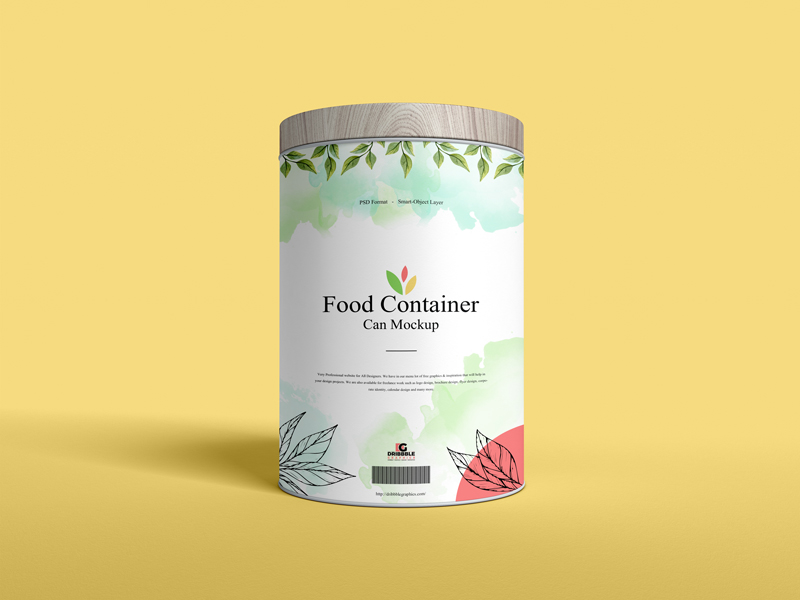 Free-Food-Container-Can-Mockup