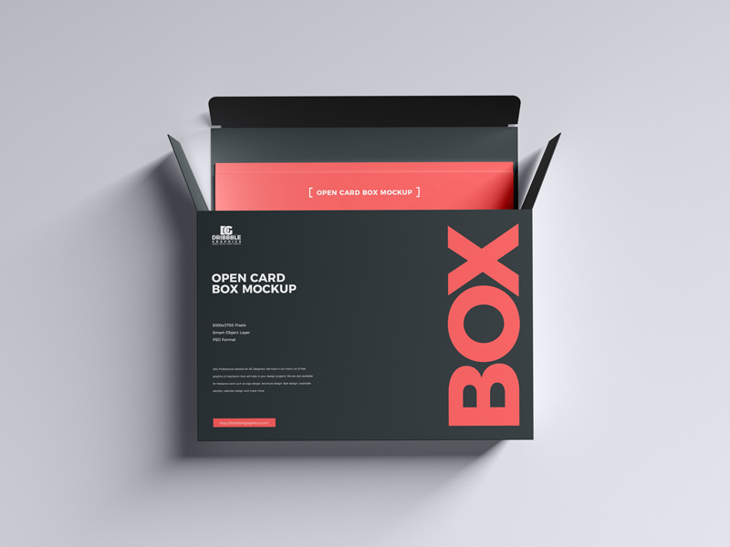 Free-Open-Card-Box-Mockup
