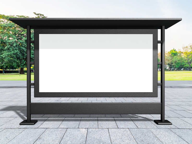 Free-Outdoor-Advertising-Stand-Billboard-Mockup-600