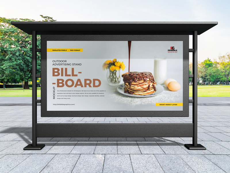 Free-Outdoor-Advertising-Stand-Billboard-Mockup