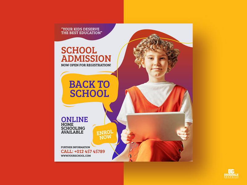 Free-Back-To-School-Admission-Social-Media-Banner-Template