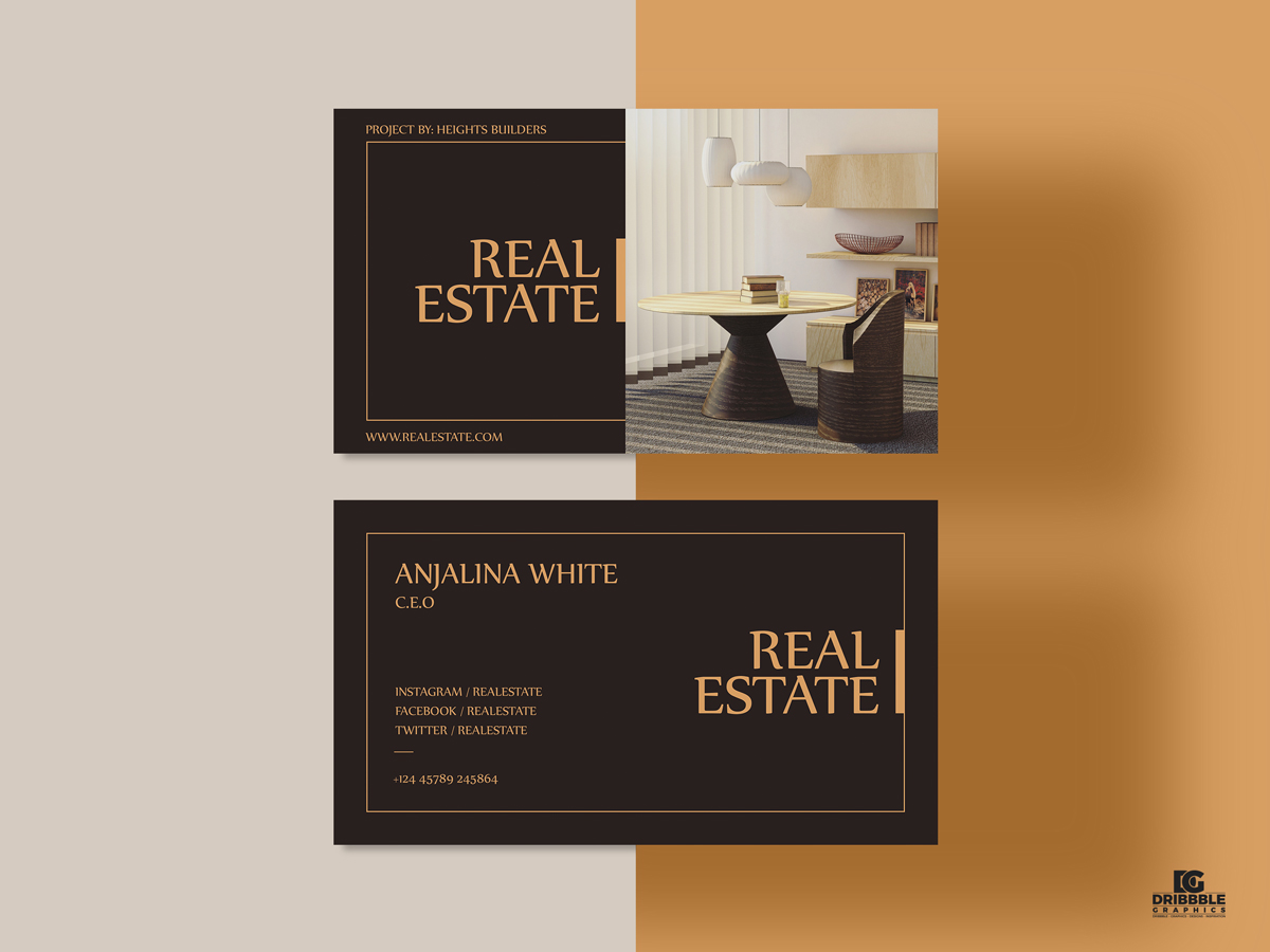 Free-Real-Estate-Business-Card-Design-Template