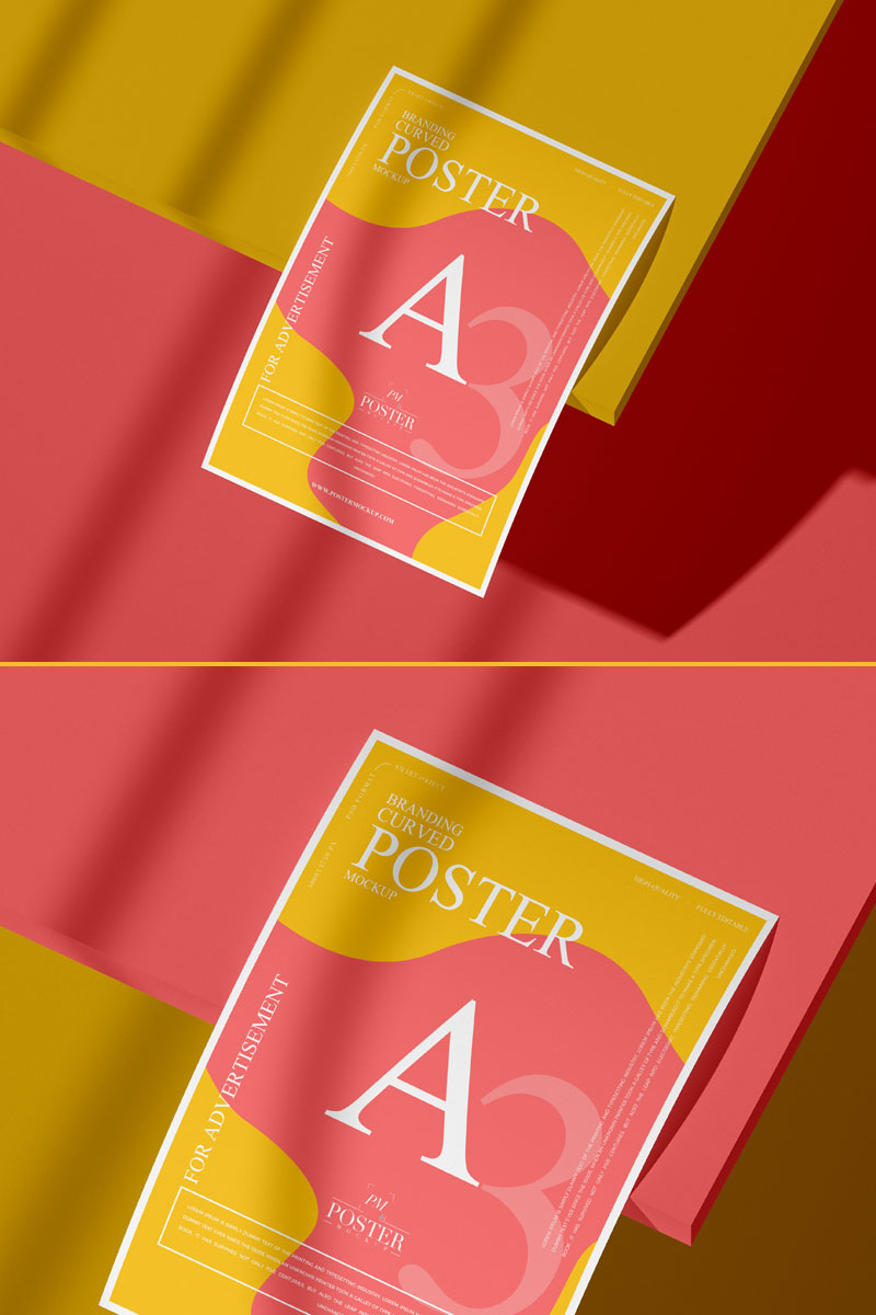 Free-A3-Curved-Paper-Poster-Mockup-PSD