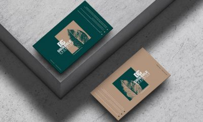 Free-Business-Cards-on-Concrete-Floor-Mockup-300