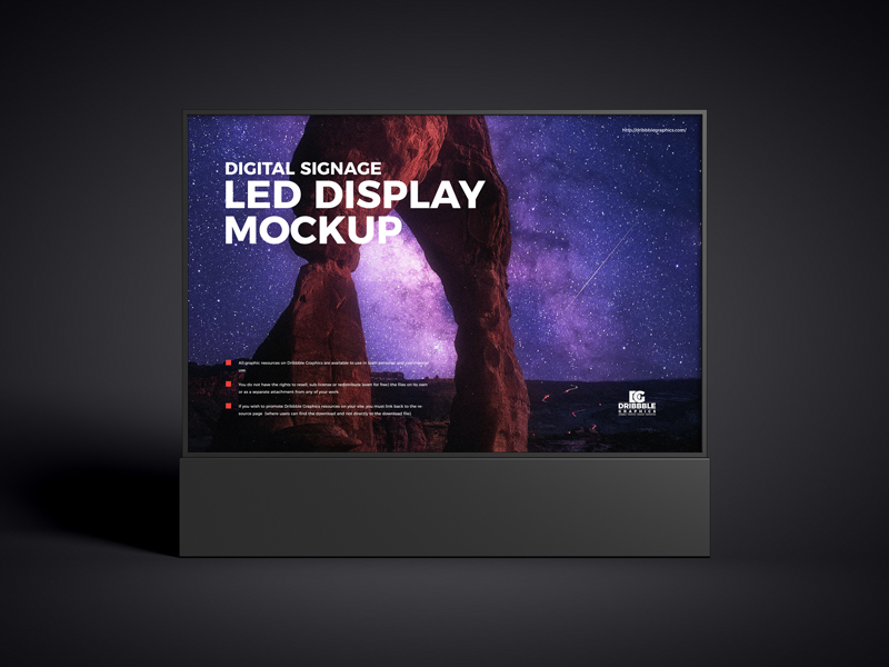 Free-Digital-Signage-LED-Display-Mockup-600