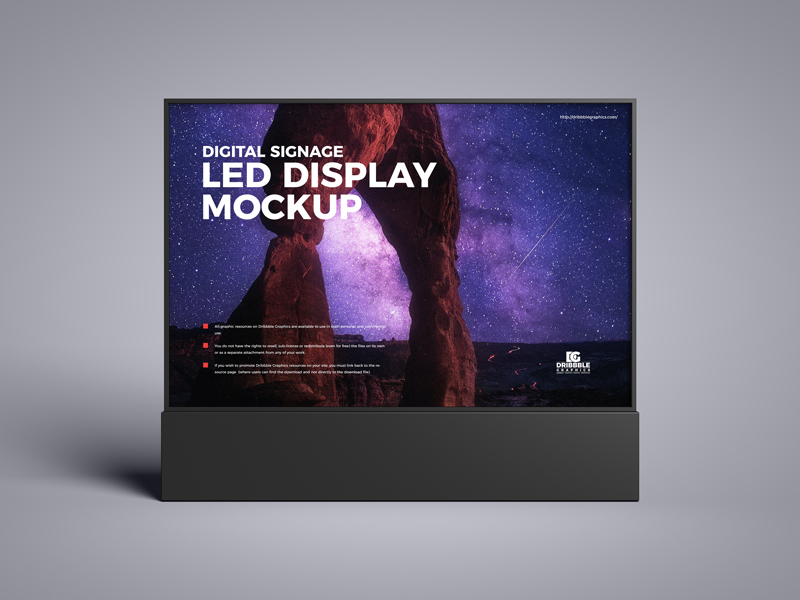 Free-Digital-Signage-LED-Display-Mockup