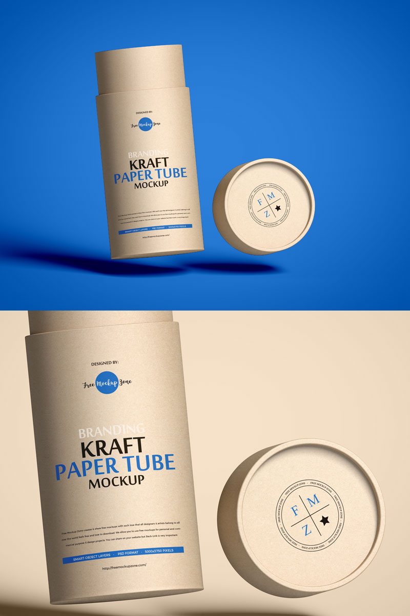 Free-Packaging-Craft-Paper-Tube-Mockup-PSD