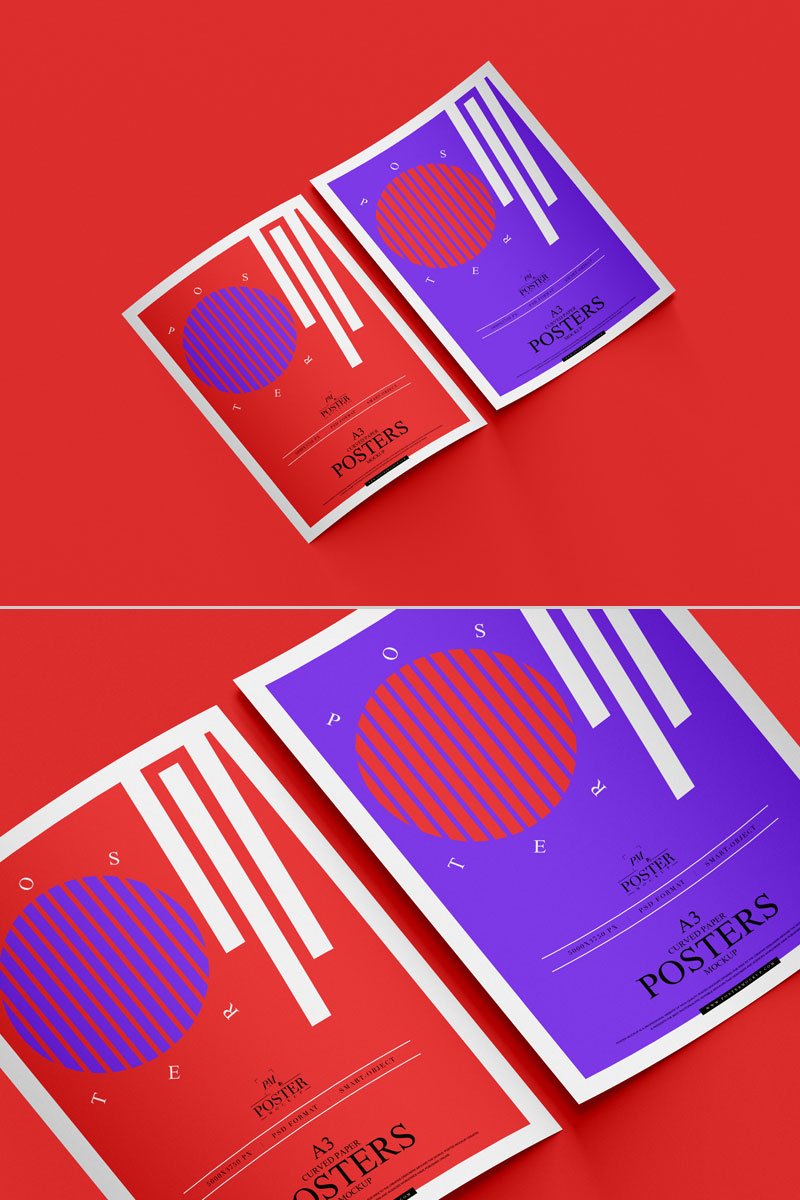 Free-Top-View-Curved-Paper-Poster-Mockup-PSD
