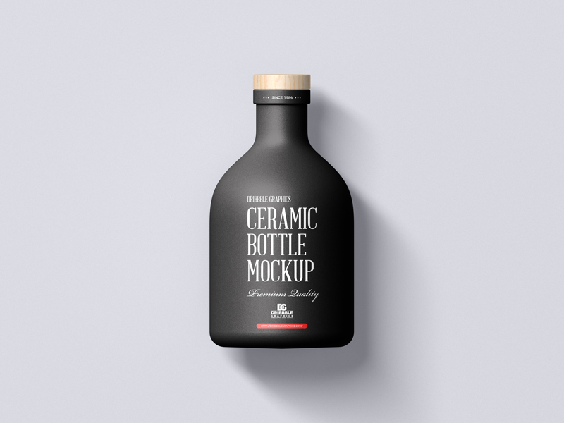 Free-Ceramic-Bottle-with-Wooden-Cap-Mockup-600
