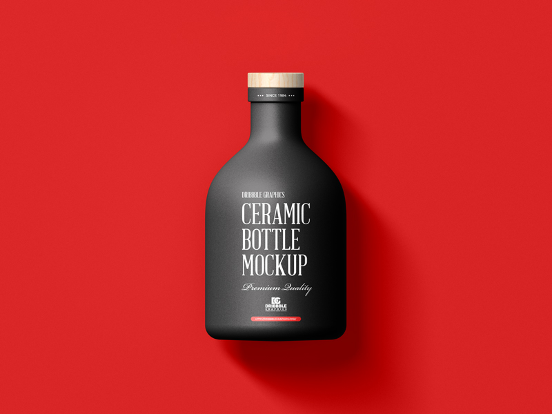 Free-Ceramic-Bottle-with-Wooden-Cap-Mockup