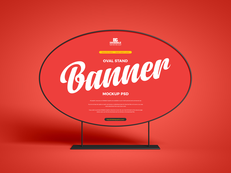 Free-Oval-Stand-Banner-Mockup