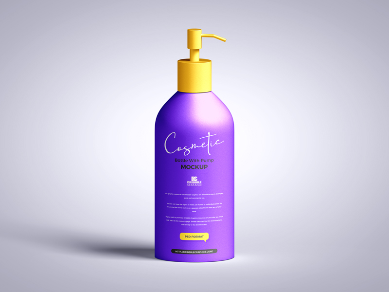 Free-Cosmetic-Bottle-with-Pump-Mockup