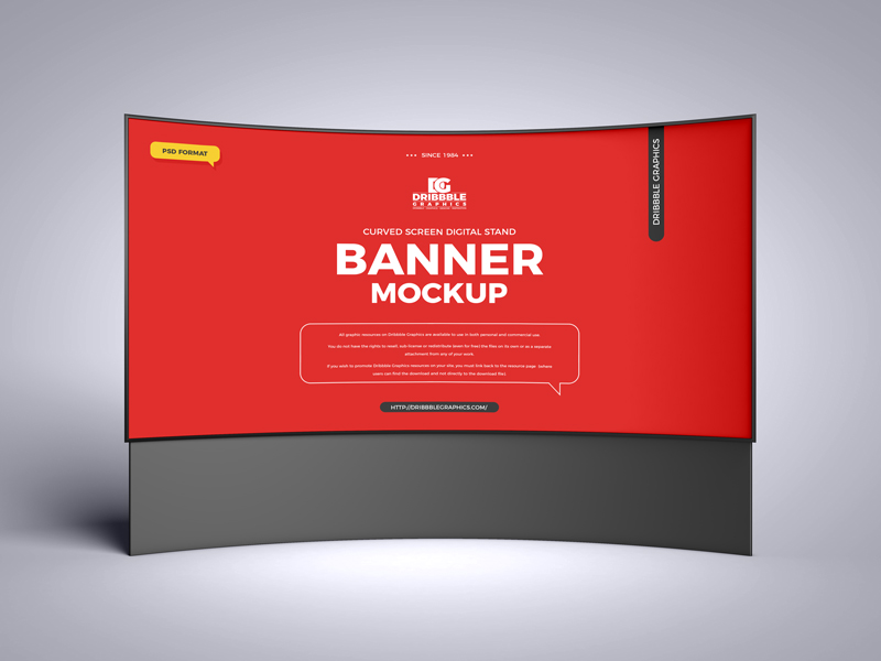 Free-Curved-Screen-Digital-Stand-Banner-Mockup