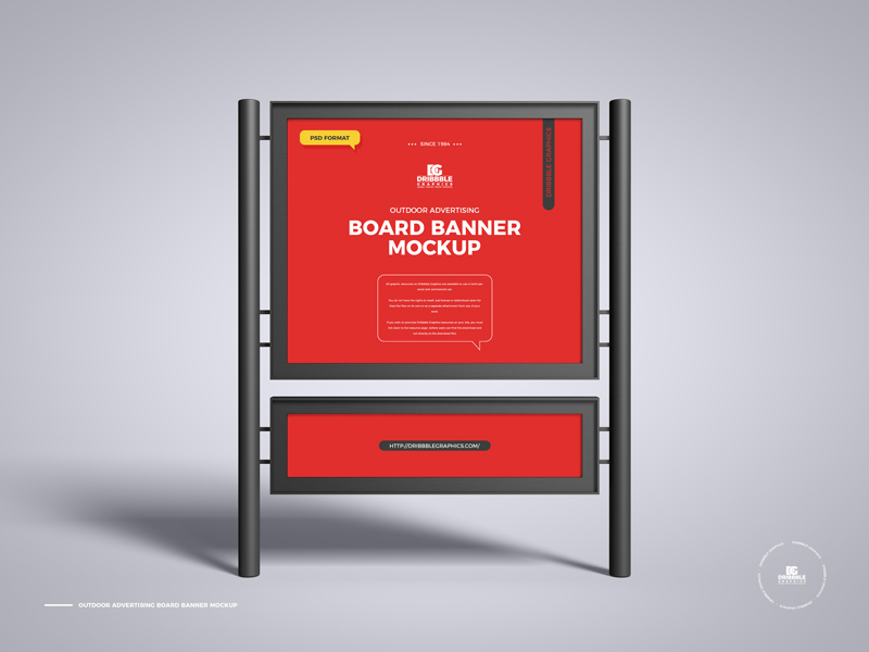 Free-Outdoor-Advertising-Board-Banner-Mockup