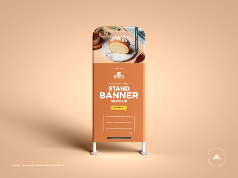 Free-Top-Rounded-Corner-Stand-Banner-Mockup