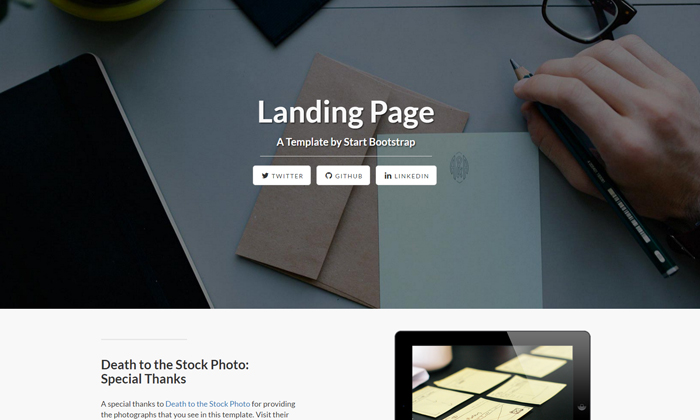 20 Free Bootstrap Landing Page Templates Themes Dribbble Graphics