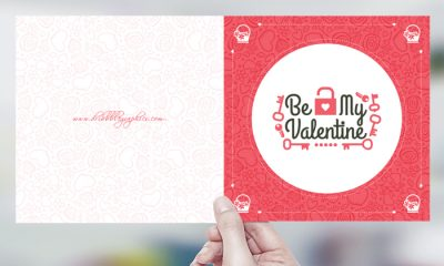 Free happy valentine day greeting card template design dribbble free be my valentine greeting card design template pronofoot35fo Image collections