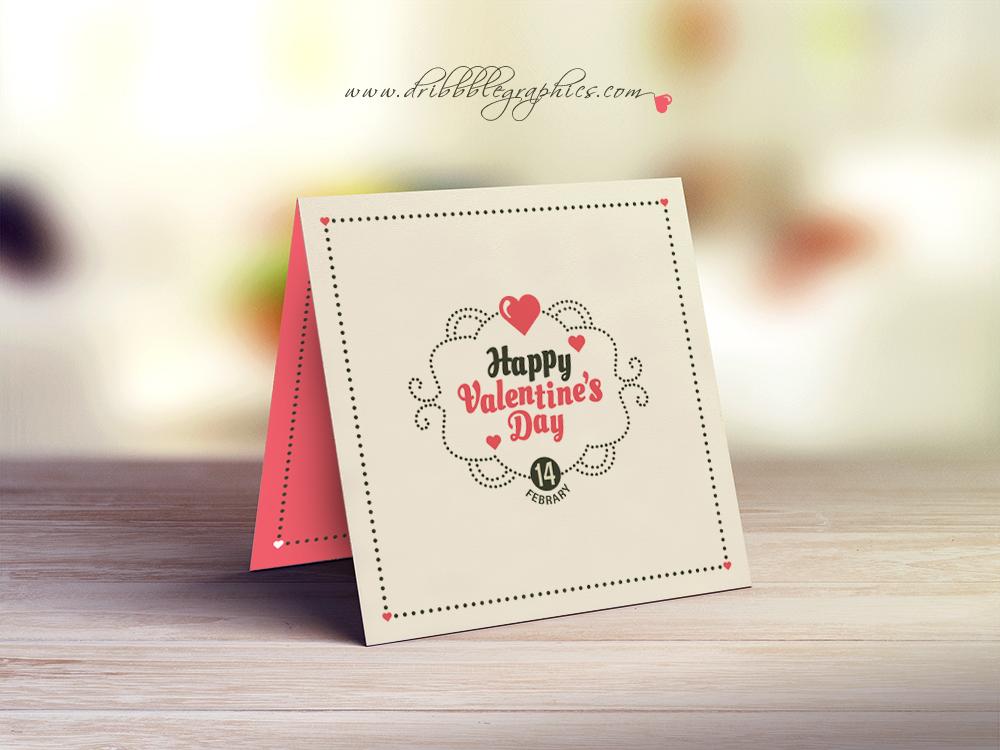 free valentine greeting card design template  dribbble