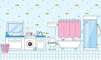 Free-Bathroom,-Cosmetics-&-Furniture-Appliances-Icons-Collection