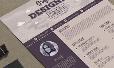 Free-Vintage-Style-Designers-Resume-Design-Template-300