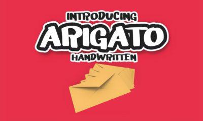 Free-Arigato-Display-Handwritten-Font-300