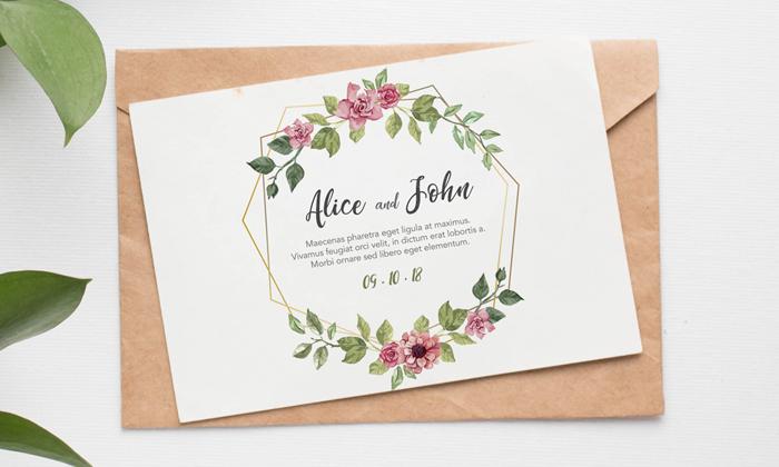 Free Lovely Invitation Card Mockup Psd Dribbble Graphics