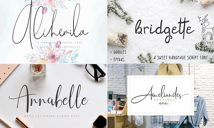 30 Adorable New Script Fonts For Your Creative Design Works