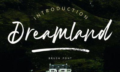 Free-Dreamland-Brush-Font-Demo