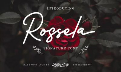 Free-Rossela-Signature-Font-Demo