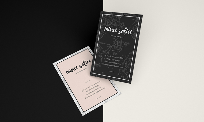 Free Floating Brand Business Card Mockup Psd Dribbble Graphics