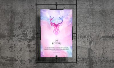 Free-Concrete-Wall-Hanging-Poster-Mockup-300