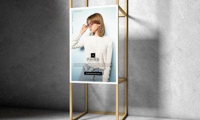 Free-Advertising-Wooden-Frame-Poster-Mockup-Design-300