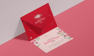 Free-Envelope-With-Greeting-Card-Mockup-300