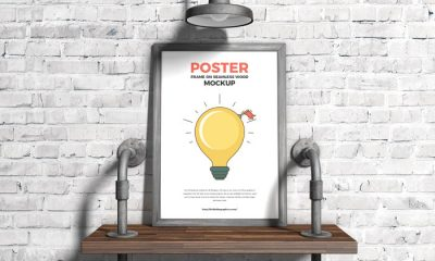 Free-Poster-Frame-on-Seamless-Wood-Mockup-300