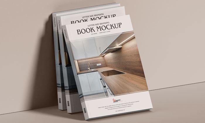 Free-PSD-Branding-Modern-Book-Mockup-300