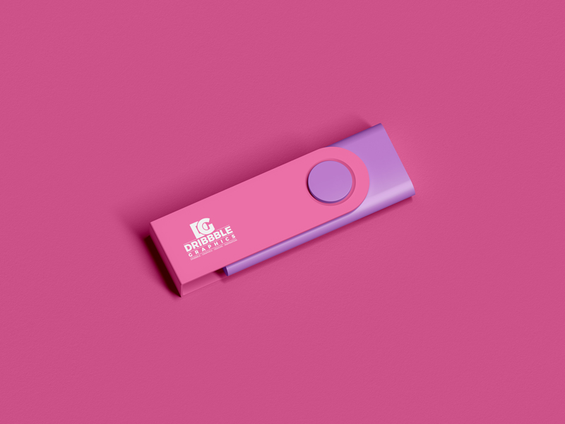 Free Branding Usb Flash Drive Mockup   Dribbble Graphics