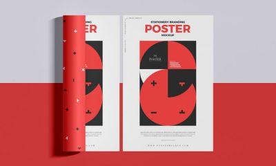 Free-Top-View-Fabulous-Branding-Poster-Mockup-300